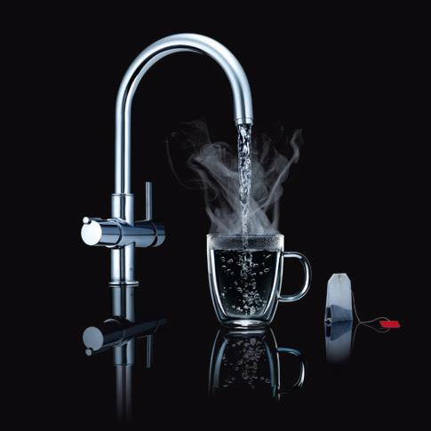 Grohe red e n kraan voor koud warm en kokend heet water for Thermostaat voor grohe kraan